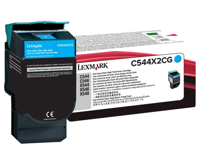 C544, X544 Cyan EHY Toner Cartridge