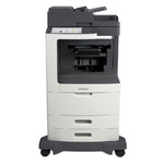Lexmark MX811de w/Staple Punch Finisher