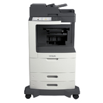 Lexmark MX812de w/ Staple Finisher