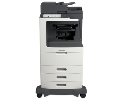 Lexmark MX812dte w/ Staple Punch Fin.