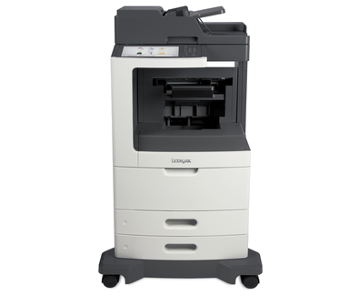 Lexmark MX812de w/Staple Punch Finisher