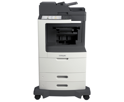 Lexmark MX810de w/ Staple Finisher