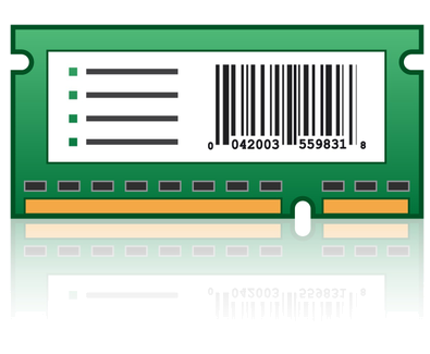 Tarjeta para códigos barras y Forms