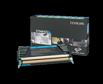 C73x, X73x Cyan Return Program Cartridge