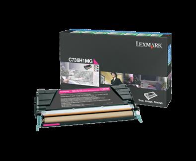 C736 Magenta HY Return Program Cartridge